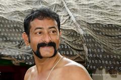 Macho man (*shutterbug_iyer*) Tags: shutterbugiyer man portrait mustache beard barechest profile father brahmin explore moustache whiskers