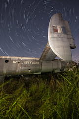 WR985 - The Final Goodbye ([Nocturne]) Tags: noctography nocturne photo photography nocturalphotography abandoned nightphotography startrail thenightsky wr985 avroshackleton ww2 war warplane thenocturnes lightpainting lpp lightpaintingphotography longexposure canon 5mkii