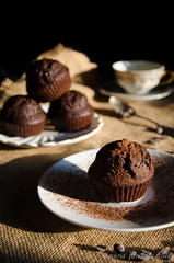 Magdalenes de xocolata / Chocolate muffins (nuriapase) Tags: stilllife sweet magdalena xocolata chocolate handmade bodegón light shadow food foodphotography cakes