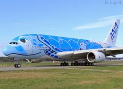 F-WWSH Airbus A380 All Nippon (@Eurospot) Tags: fwwsh ja381a airbus a380 ana allnippon toulouse blagnac