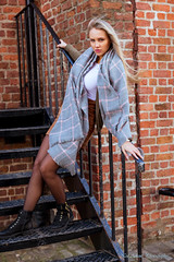 Fire escape 2 (Neil Adams Photography (Wirral)) Tags: young model sexy sensual elegant beautiful stunning female girl woman outdoor outdoors portrait location