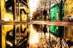Reflection (Maria Eklind) Tags: reflection spegling city sweden puddlereflection malmö puddle regemenstgatan skånelän sverige se