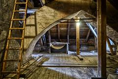The Attic Lumber (henriksundholm.com) Tags: interior architecture attic ladder vault shadows board wooden floor history historical strömsholm strömsholmsslott strömsholmpalace royalpalace palace castle lamp light hdr sverige sweden