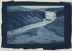 Þórufoss (lawatt) Tags: þórufoss waterfall water river landscape iceland altprocess cyanotype wares hahnemuhleplatinumrag