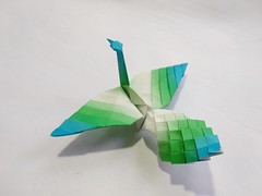 Origami peacock Designed by Bhushan (My Crafts and Arts) Tags: origamipeacock origamibird origami