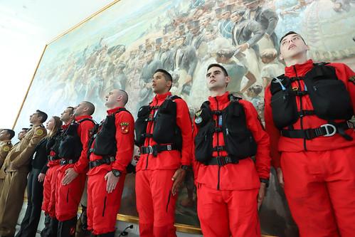 Homenagem aos bombeiros paranaenses que prestaram socorro em Brumadinho