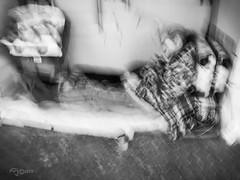 El Sueño. (The Dream) (Capuchinox) Tags: bw blancoynegro street people persona calle olympus