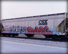 (timetomakethepasta) Tags: acer erase gns goonies freight train graffiti art csx csxt grainer hopper
