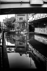 Manchester (Missy Jussy) Tags: manchester city canal canals water reflections bar bridge buildings railings trees building loch mono monochrome blackwhite bw blackandwhite 50mm ef50mmf18ll ef50mm ef50mmf18ii canon50mm fantastic50mm canoneos5dmarkii canon5d canon5dmarkll canon shadows light