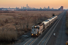 The Last Hoorah (sully7302) Tags: nj transit gp40ph2 emd gp40p 4101 cnj central railroad new jersey cnjrr meadowlands east rutherford meadows sunset dusk last light golden hour freedom tower one world trade center skyline york manhattan train trains passenger transport transportation locomotive