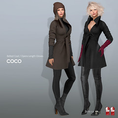 COCO New Release @Uber (cocoro Lemon) Tags: coco newrelease uber coat gloves secondlife fashion maitreya slink belleza