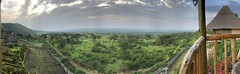 Panorama from lodge in Queen Elizabeth NP