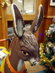 Neddy - 1 (the justified sinner) Tags: justifiedsinner donkey toy ride neddy cafe brucciani deco morecambe lancashire seaside winter town panasonic 17 20mm gx7