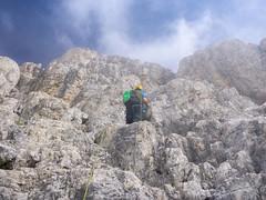 Ascent to Cima Grande  (Almost at the top) (O-Day) Tags: trecime lavaredo 3zinnen mountain