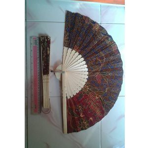 MURAH Kipas Batik Jumbo 30cm Souvenir Pernikahan Murah