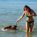 Catch of the Day. Girl at Nai Harn beach, Phuket, Thailand              XOKA4338s