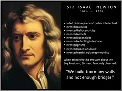Isaac Newton (Omunene) Tags: isaacnewton publicintellectual walls bridges scientist gravity calculus oceantides prism oblatespheroid flatearthersaredumbasdirt comet heliocentricity reflectingtelescope speedofsound