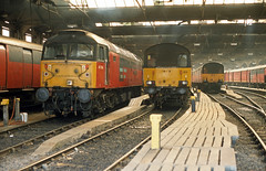 47784 Euston Downside shed (Gridboy56) Tags: res trains train type4 duff class47 47784 euston europe diesel coach coaches locomotive locomotives london uk railways railroad railfreight royalmail parcels
