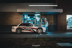 Drive Thru (Dezone Works Photography) Tags: bmw e30 drift car 44 v8 stance style 32 kfc drive thru building food hungary magyar magyarország europe photoshop lightroom canon 6d 35mm f14 highiso iso high automotive photography
