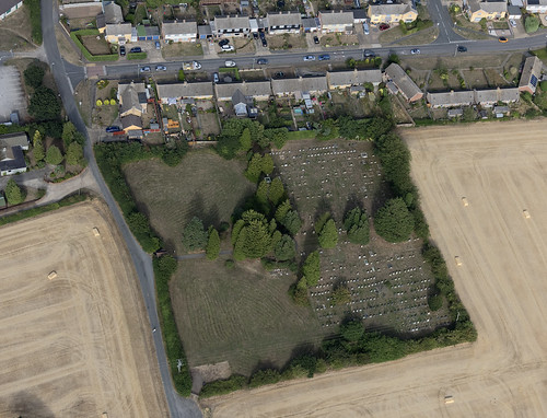 Saint John The Baptist Burial Ground in Needham Market - aerial