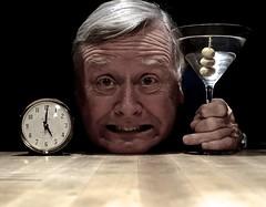It's 5:00 O'Clock! (ricko) Tags: selfportrait clock glass martini fiveoclock drink happyhour