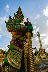 Thai Giant in temple. (anek.thapin) Tags: thailand temple giant statue buddhism