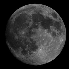 99 Percent Moon (CKemu) Tags: moon lunar space astronomy astrophotography telescope science blackandwhite bw mosaic