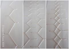 Highway of stitch (Landanna) Tags: embroidery embroideryonpaper broderi broderipåpapir borduren bordurenoppapier cretan stitch paperart paperwork paper papier papir truevintage sketchbook