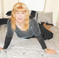 Black Gown (DianeD2011) Tags: crossdresser cd crossdress crossdressing stockings tg tranny transvestite tgirl tgurl pantyhose