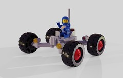 Febrovery 2019 13 (David Roberts 01341) Tags: lego ldd mecabricks febrovery rover classicspace bluespaceman minfigure buggy grey toy