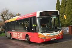 Bus Eireann SL22 (09C252). (Fred Dean Jnr) Tags: buseireann february2019 cork alloverad buseireannroute223 scania omnilink sl22 09c252 carrigmahon monkstown justeat