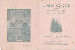 ASH2-043a Concert Programme, Wesleyan Church, Ashford, 4th December 1919 (audinary_music) Tags: ashford kent church