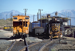 Busy Afternoon in Bingham Canyon (jamesbelmont) Tags: riogrande drgw emd gp30 midvaletramp binghamcanyon utah copperton leadmine kennecottcopper caboose gp392 copper scrap