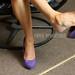 Star Dangling Purple Patent Pumps