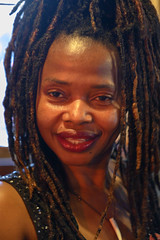 DSC_0892 Charming Susie from Sierra Leone West Africa with Dreadlocks Portrait The Haggerston Pub Kingsland Road London (photographer695) Tags: susie from sierra leone west africa with dreadlocks charming jamaican lady portrait the haggerston pub kingsland road london