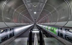 Blade Runner (StephanieB.) Tags: rotterdam netherland metro subway wihelminaplein station corridor couloir perspective futur escalierroulant fotomuseum bladerunner architecture