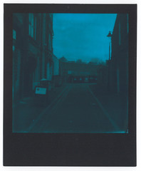 0029 Muswell Hill (romain@pola620) Tags: pola polaroid analog analogue analogique argentique film pellicule low lowfi lofi square carré impossible impossibleproject originals polaroidoriginal 600 instant one onestep onestep2 duochrome blue bleu londres london uk greatbritain muswell muswellhill black blackframe expired