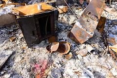 """OurHouse_01 (DonBantumPhotography.com) Tags: landscapes paradise propertylose fire paradisecaliforniacampfire crosses memorial """"donbantumphotographycom"""" """"donbantumcom"""" campfire victims home"""