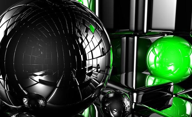 Обои шары, огромный, куб, свет, отражение картинки на рабочий стол, фото скачать бесплатно