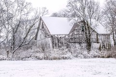 Snowy White Barn (markburkhardt) Tags: