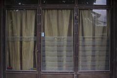 Κάθε σπίτι, κάθε κήπος και κάθε καφέ έχει μια αγκαλιά (maximoshalbert) Tags: cafe greece old abandoned ioannina ιωάννινα sign closed wood entrance door windows