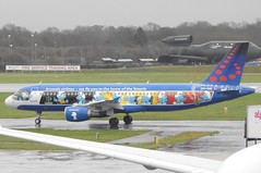 Brussels Airlines (The Smurfs Livery) Airbus A320-214 OO-SND (josh83680) Tags: manchesterairport manchester airport man egcc oosnd airbus airbusa320214 a320214 airbusa320200 a320200 the smurfs livery thesmurfs thesmurfslivery brussels airlines brusselsairlines