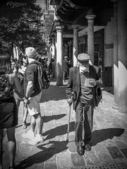 La Edad. (The Age) (Capuchinox) Tags: bw blancoynegro gente people persona sevilla seville anciano street photography calle olympus