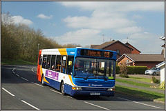 34815, Christchurch Drive (Jason 87030) Tags: stefenhill christchurchdrive daventry northants northamptonshire dennis dart d3 slf pointer red white blue orange 34815 stagecoach midlands town bus station uk roadside march 2019 sony ilce alpha px06dvz transfer