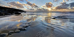 Water's edge (pauldunn52) Tags: beach dunraven southerndown glamorgan heritage coast wales sunset reflection waves