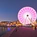 Vieux port wheel. Marsella, Francia.