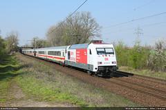 DB 101 063 '100 Jahre Bauhaus' in Ahlten #6022 (146 106) Tags: db bahn lok lokomotive locomotive br101 101063 100jahrebauhaus ic ahlten halt canon ef24105mmf4lisusm 5dmarkiii