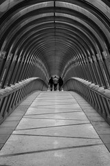 3 friends walking (jeffclouet) Tags: paris france europe capital city cuidad calle rue street ville monochrome bw bnw pb nikon nikkor nb noiretblanc downtown d850 defense people personas perspective personnes perspectiva tunnel tunel bridge pont puente streetphotography streetshot streetview streetlife streetscene urbain urban urbano urbanlife urbanphotography urbanscene friends amis amigos walking