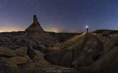 Face-to-face (tsanchezruiz) Tags: longexposure nightshot nightphotography bardenasreales stars navarra spain desert nightscape travel castildetierra