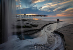Go with the Flow (ihikesandiego) Tags: scripps pier sunset ocean beach san diego la jolla waterfall